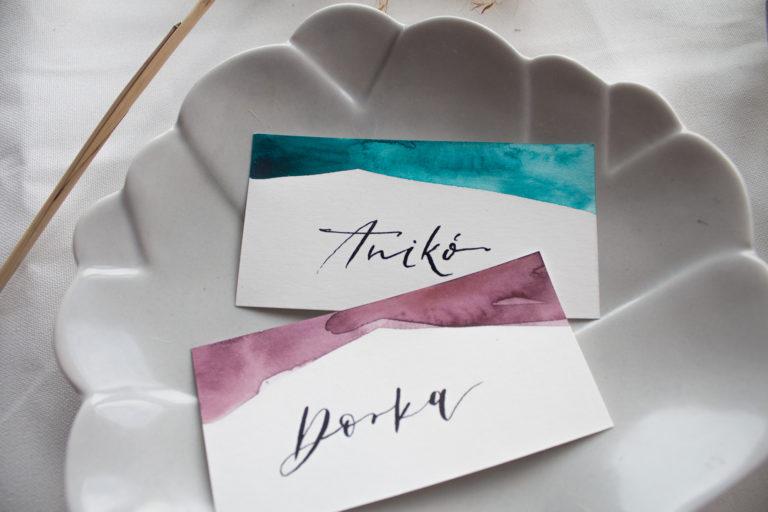 kézzel írt vízfestékes