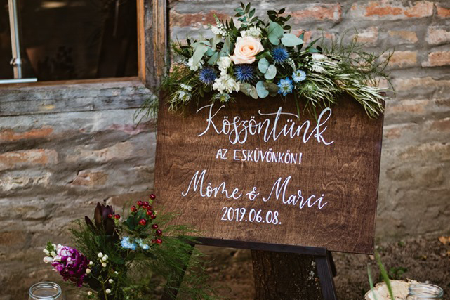 fatábla esküvőre
