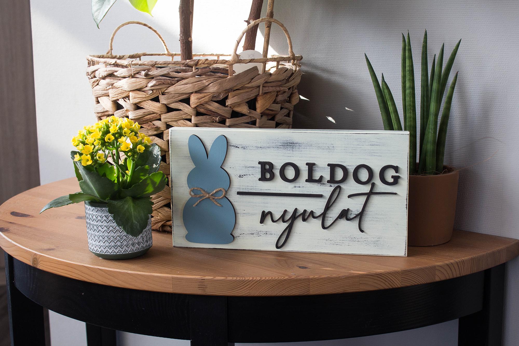 Húsvéti üdvözlőtábla