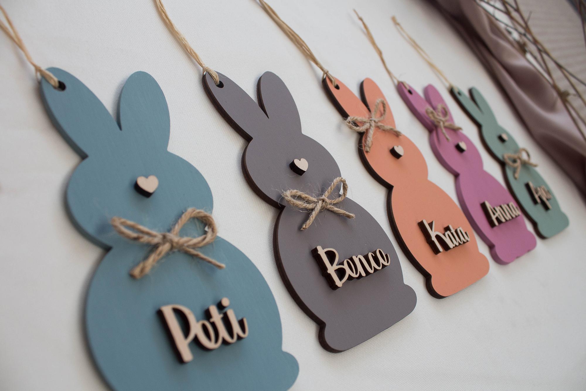Névre szóló húsvéti dekorációk